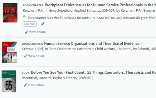 Electronic academic course materials