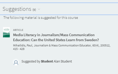 Open Educational Resource recommendation