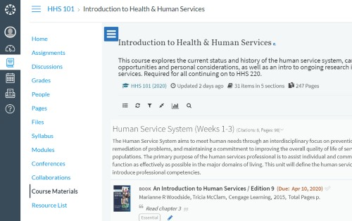 Online access to learning course resources